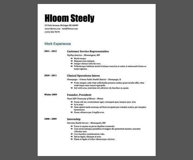 Steely Gdoc | Google Docs Resume Template | Google Docs Resume Templates To Ace Your Next Interview