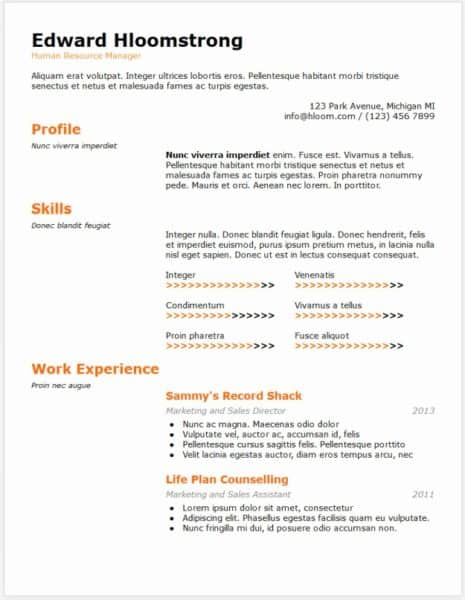 Example Of A Filled Out Google Doc Resume Awesome 15 Elegant