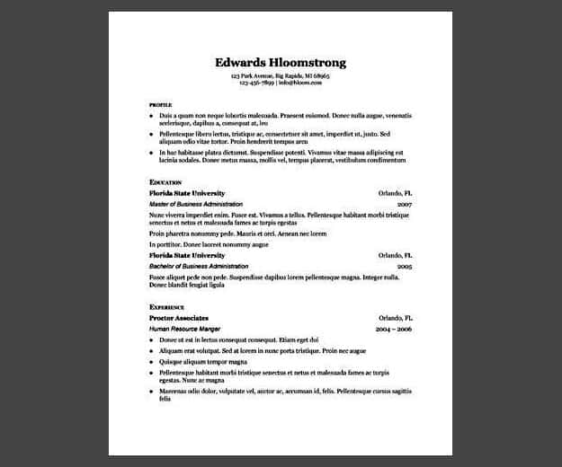 Traditional Elegance Gdoc | Google Docs Resume Template | Google Docs Resume Templates To Ace Your Next Interview