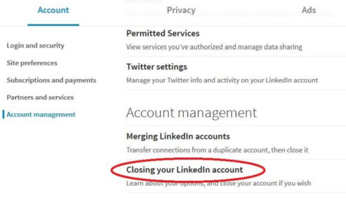 Step 5: Click Closing Your LinkedIn Account | How To Delete LinkedIn Account In Just A Few Easy Steps | how to delete your linkedin | deleting your linkedin account | how to close your linkedin account