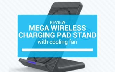 MeGa Wireless Charging Pad Stand with Cooling Fan