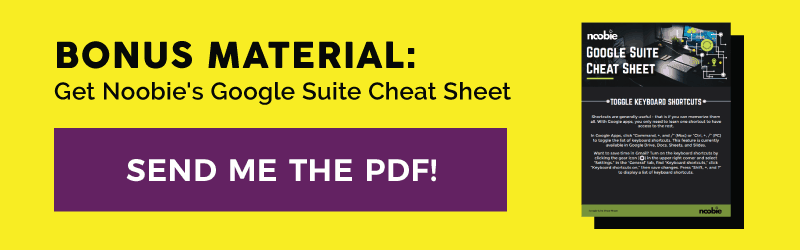 Google Suite Cheat Sheet