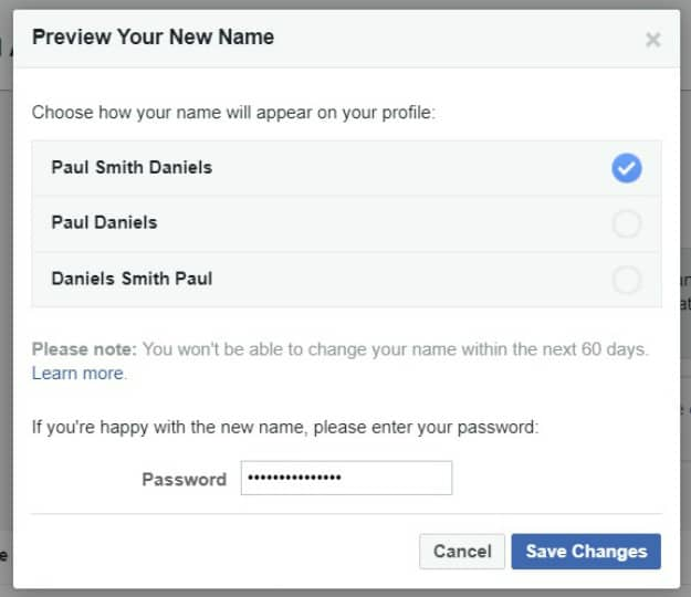 checking Facebook preview | How To Change A Name On Facebook