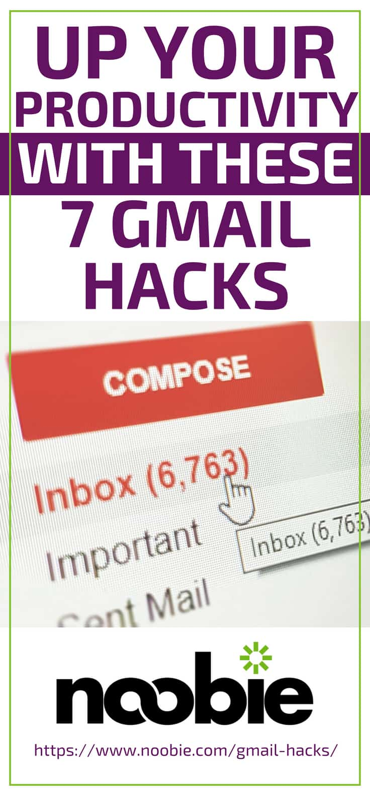 Up Your Productivity With These 7 Gmail Hacks https://www.noobie.com/gmail-hacks/