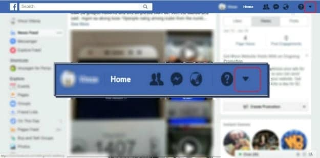 drop down menu | How To Change Name On Facebook |