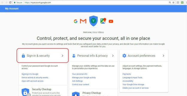 Open My Account | Gmail: How To Change Your Password | change gmail password on android