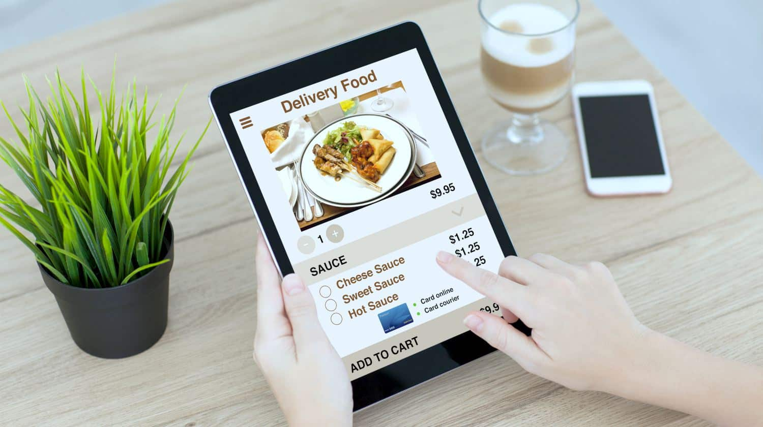 Feature | woman hands holding tablet | FeatureBest Food Delivery Apps For iOS and Android | Seamless Food Delivery | online food delivery