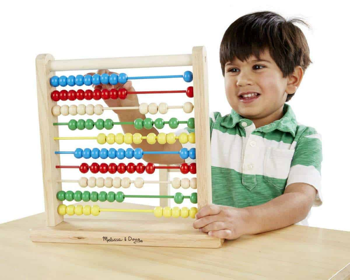 Melissa & Doug Abacus - Classic Wooden Educational Counting Toy | Best STEM Toys For Kids