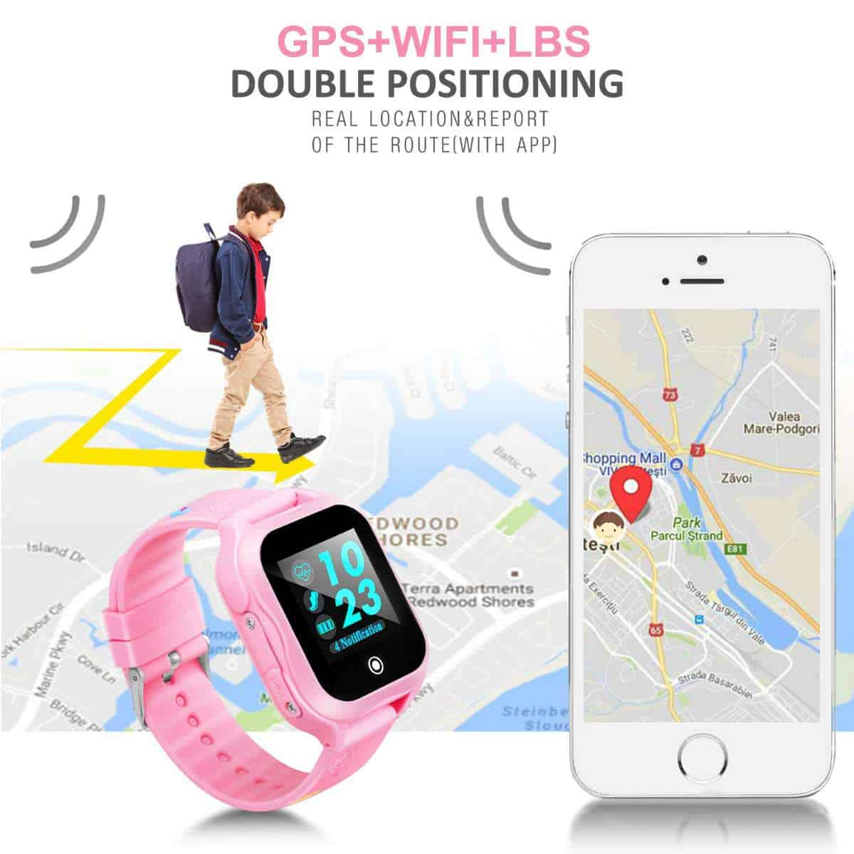 IP67 Waterproof GPS Tracker with SOS Emergency Call | Best GPS-Enabled Kids Watches | Child Safety For The Modern Family