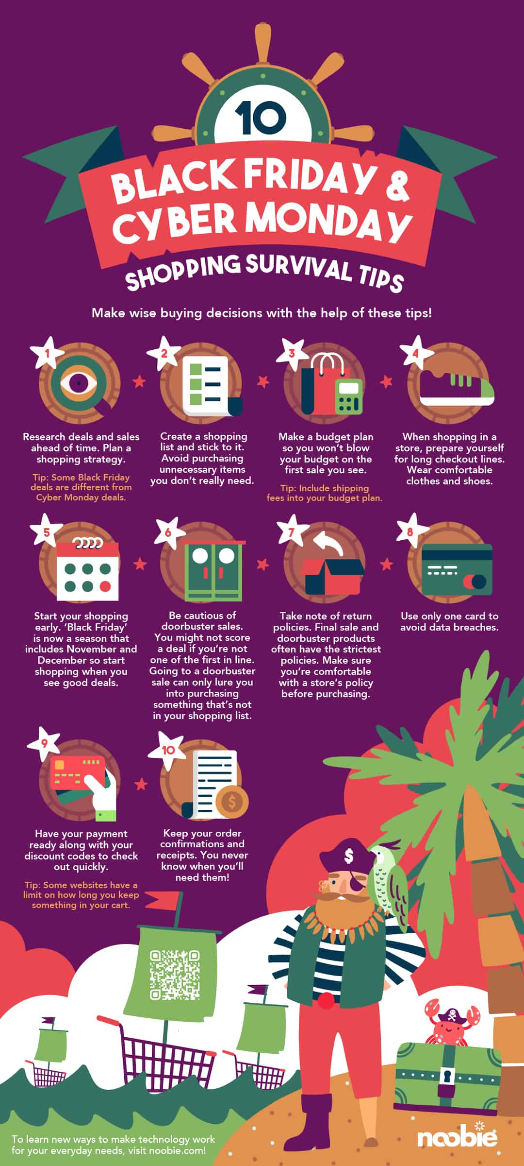 infographic | 10 Black Friday and Cyber Monday Shopping Survival Tips