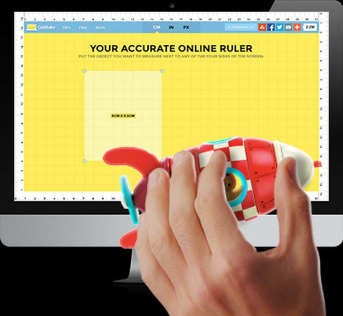 GetRuler   Online Rulers To Use When You Can't Find A Physical One
