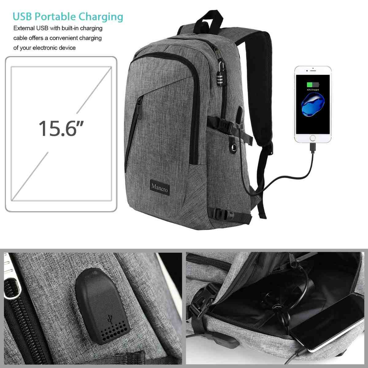 Charging Backpack Inclusions | The Mancro Travel Charging Backpack | Amazon Finds