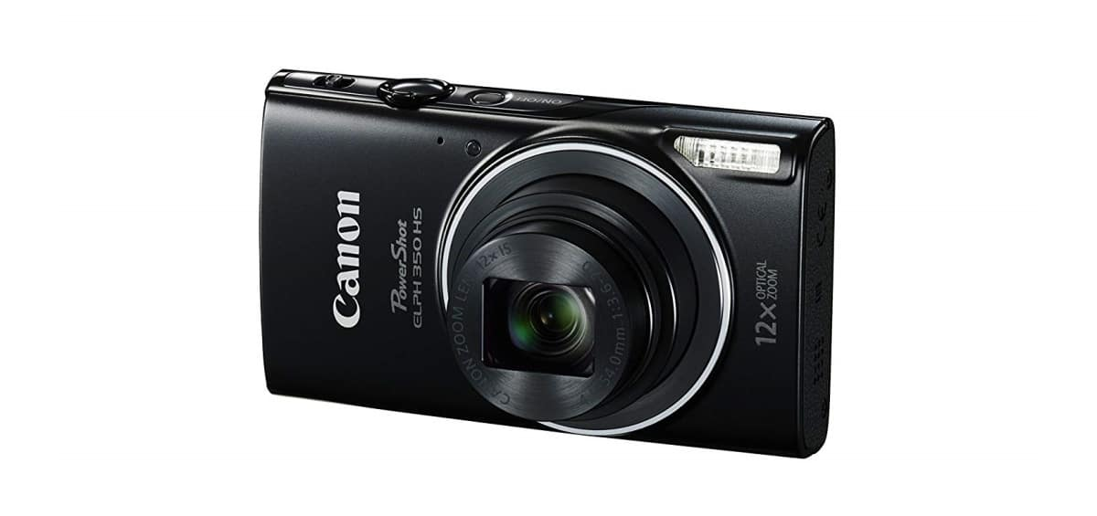 Canon PowerShot ELPH 350 HS (Black) | Best Vlogging Cameras On Amazon | cheap vlogging camera | wide angle