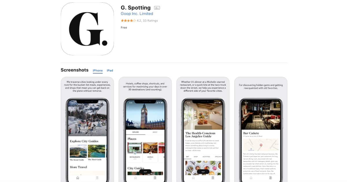 G. Spotting (iOS) | Awesome Travel Apps That Can Help You Find the Best Vacation Spots