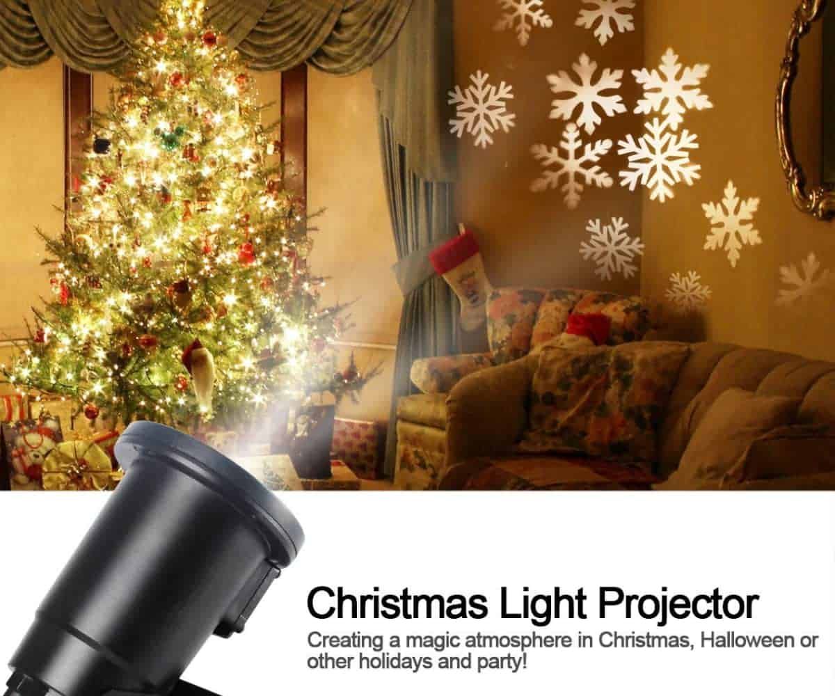 Indoor Snowflake Projector | High Tech Christmas Decorations To Get Into the Festive Holiday Season