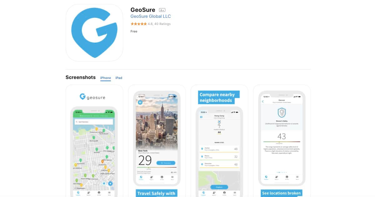 Geosure (iOS and Android) | Awesome Travel Apps That Can Help You Find the Best Vacation Spots