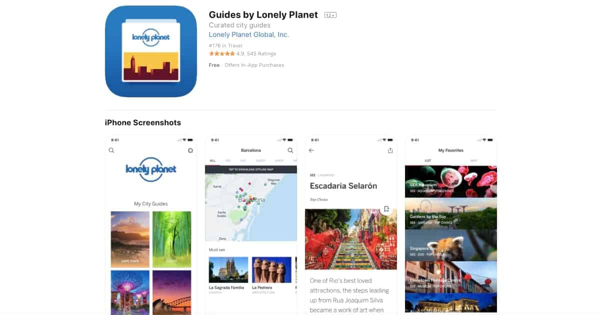 LonelyPlanet (iOS and Android) | Awesome Travel Apps That Can Help You Find the Best Vacation Spots