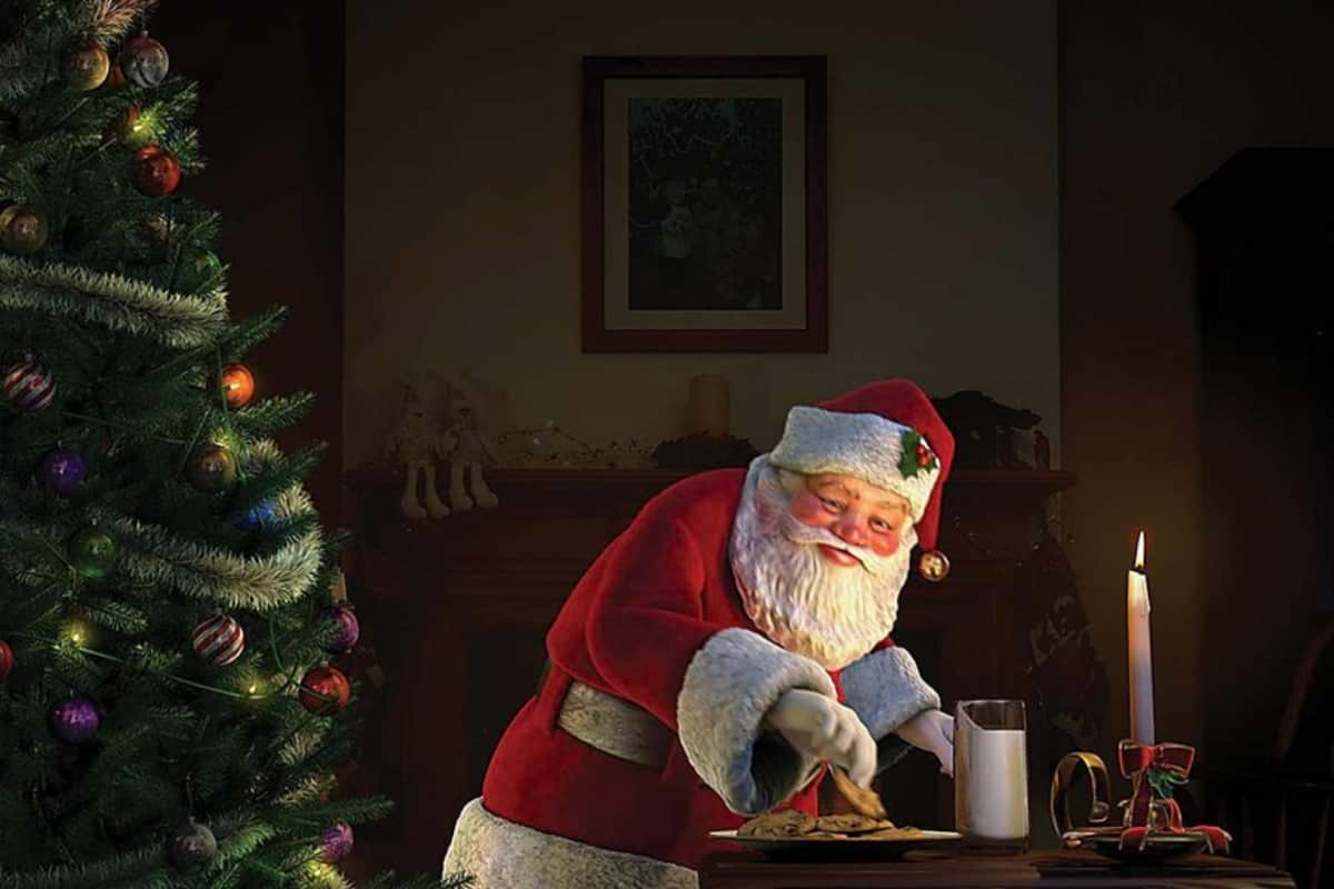 Santa sneaking | | High Tech Christmas Decorations To Get Into the Festive Holiday Season
