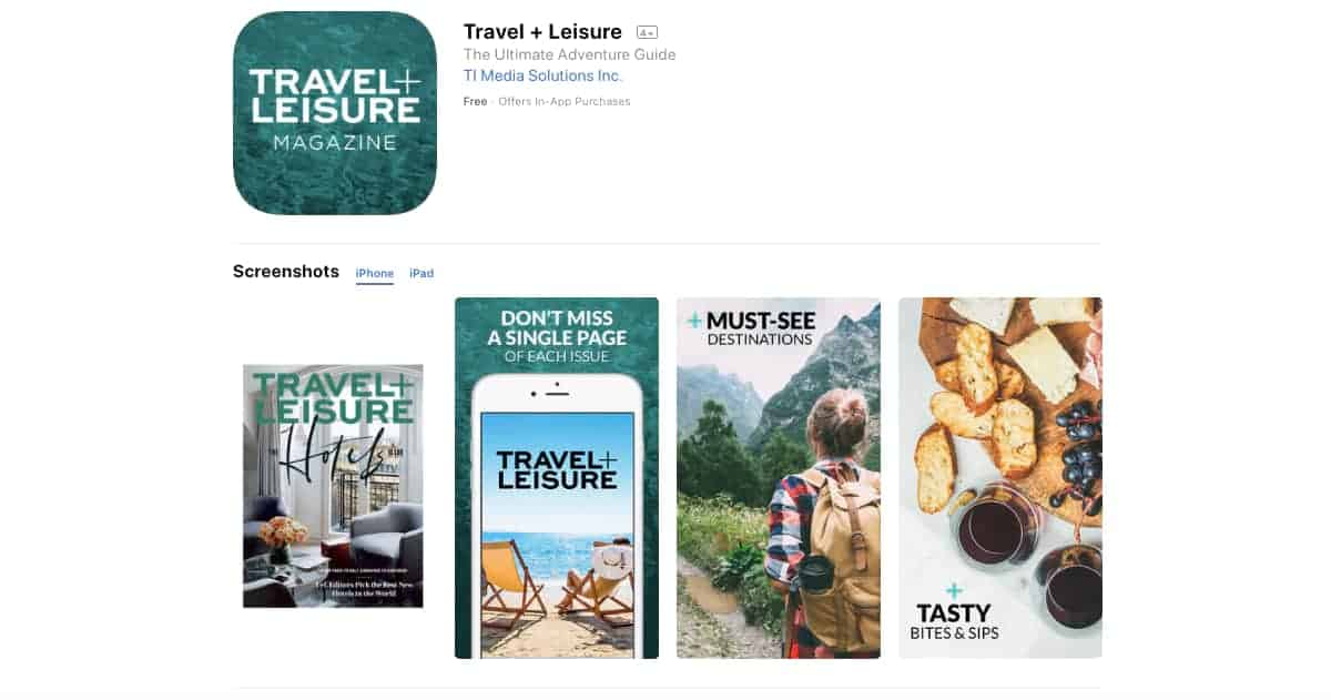 Travel + Leisure Travel Guide (iOS and Android) | Awesome Travel Apps That Can Help You Find the Best Vacation Spots