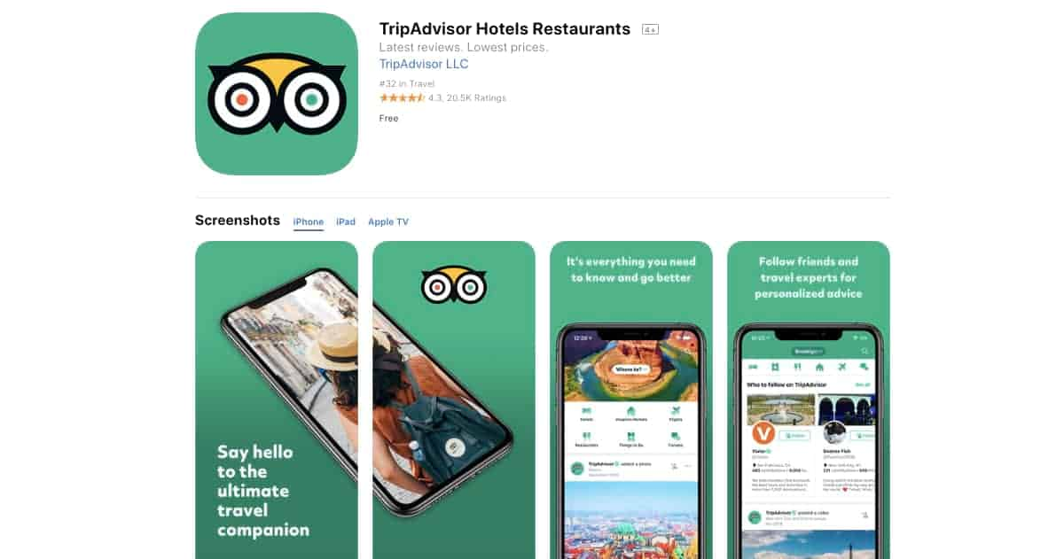 TripAdvisor (iOS and Android) | Awesome Travel Apps That Can Help You Find the Best Vacation Spots