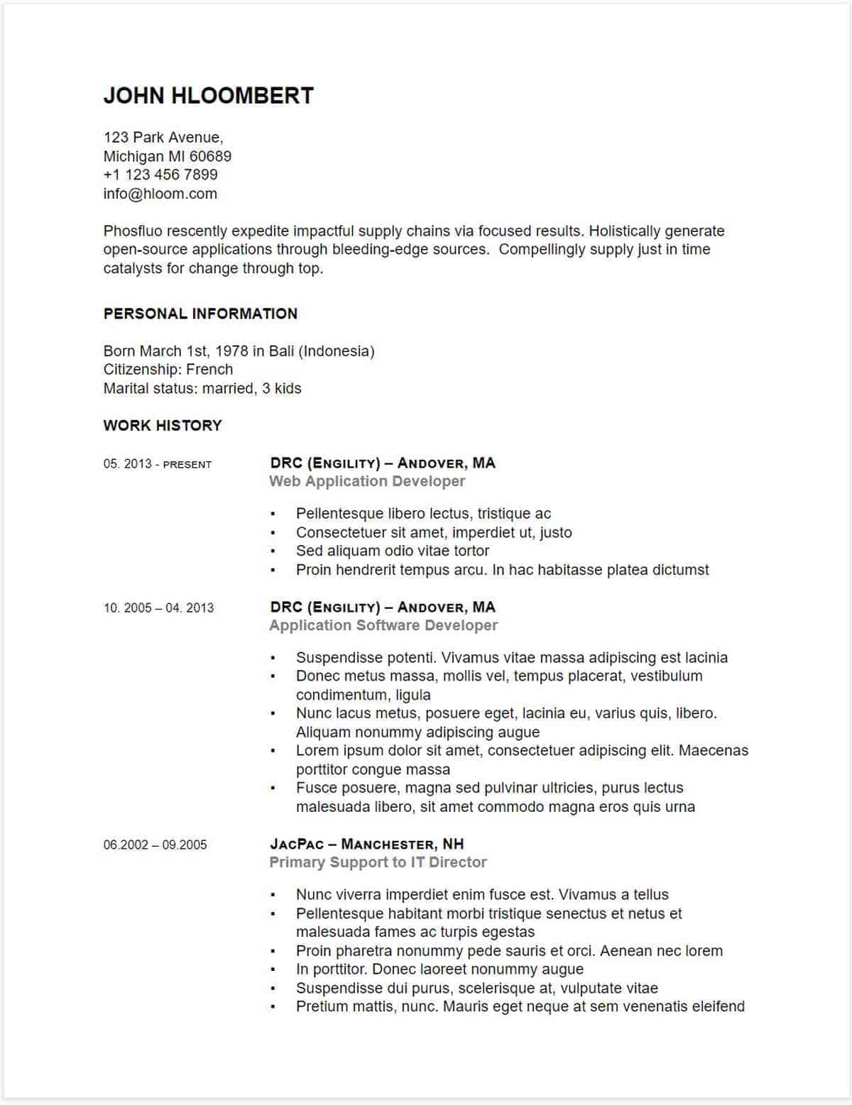 Button-down Gdoc | Google Docs Resume Template | Google Docs Resume Templates To Ace Your Next Interview