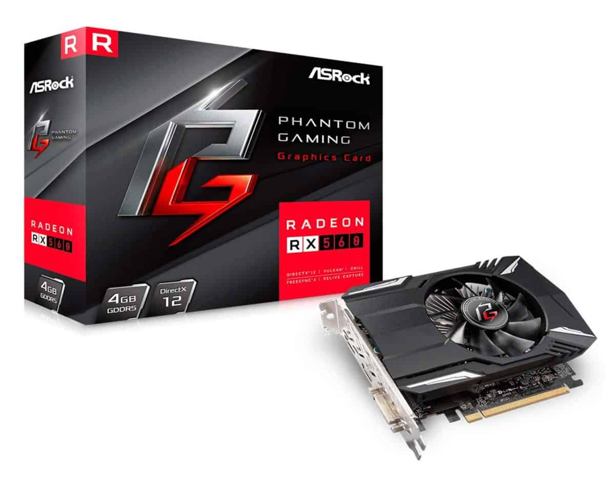 ASRock Phantom Gaming Radeon RX 560 | Best Graphics Cards For Gaming