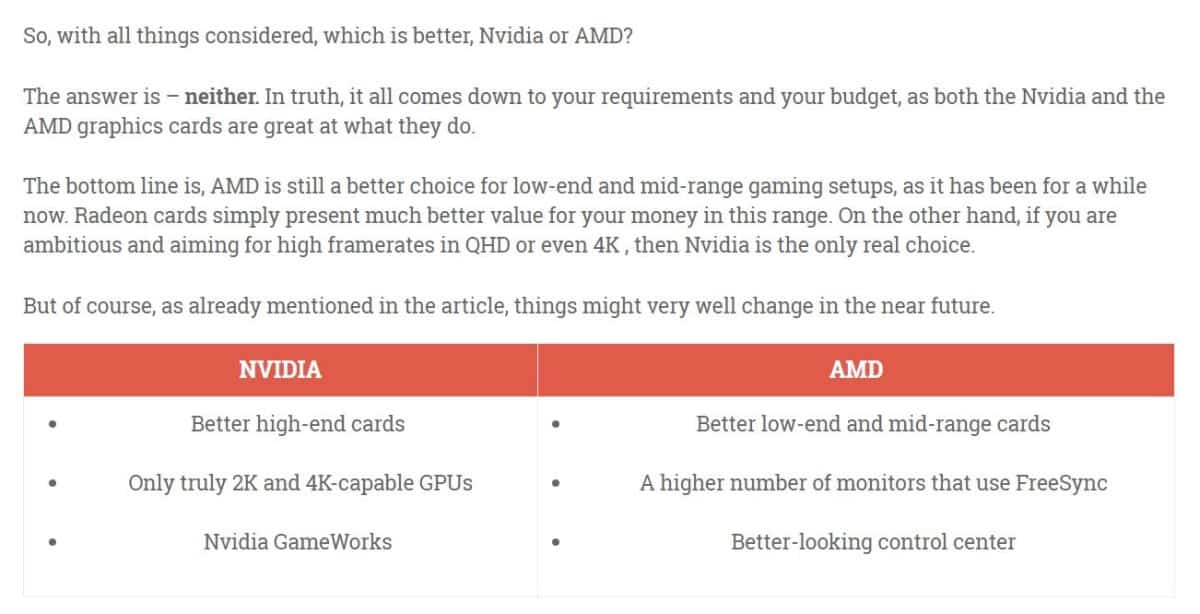 Gamingscan Review | AMD vs Nvidia : Who Makes Better Graphic Cards?