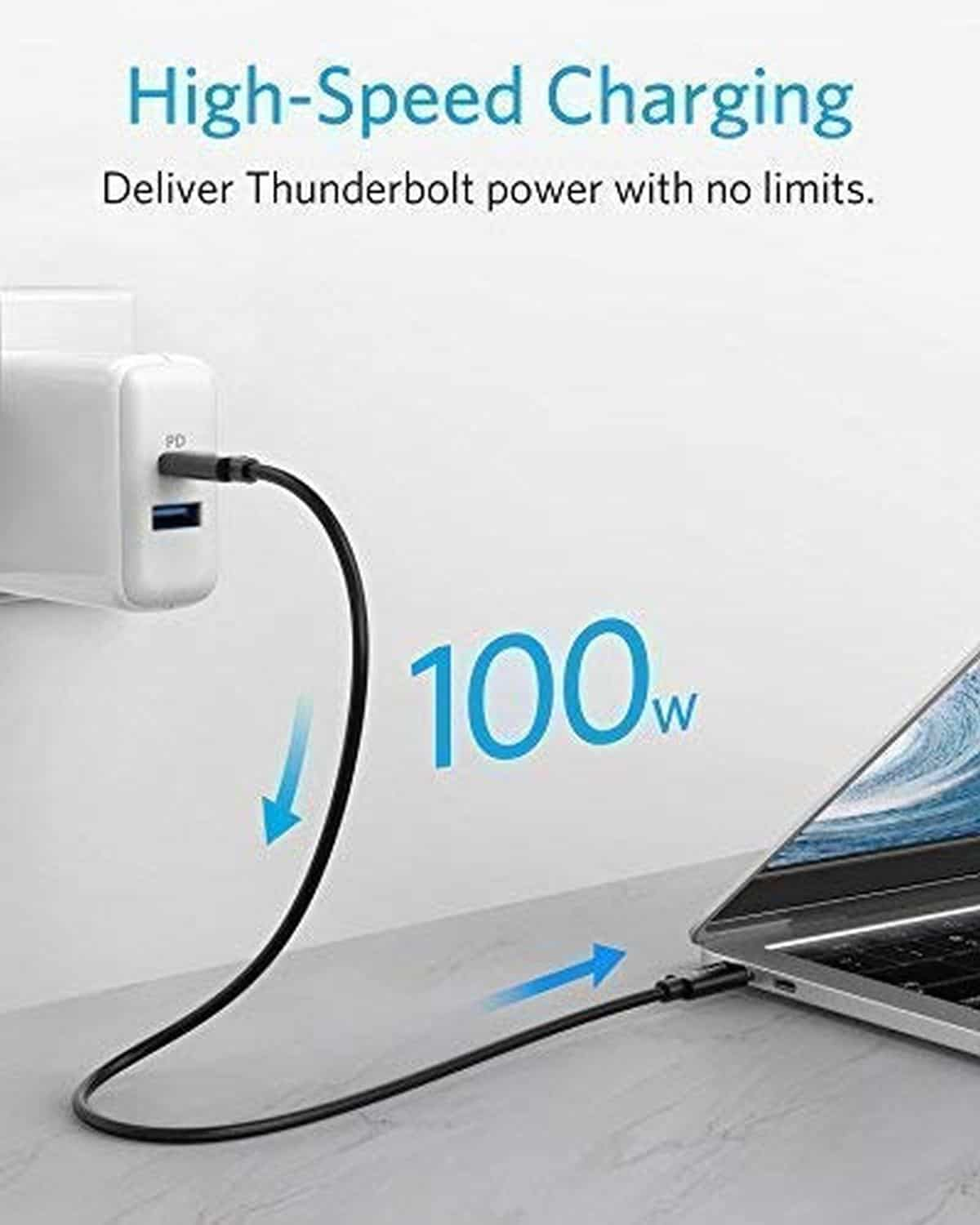 Anker USB-C to USB-C Thunderbolt 3.0 Cable | Best Macbook Accessories for 2019