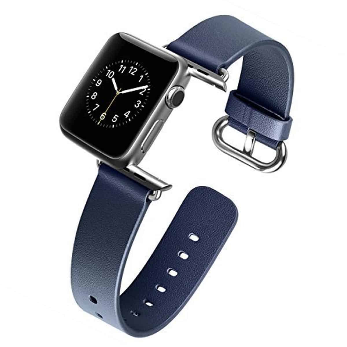 J&D Tech Leather Strap for Apple Watch | Apple Watch Accessories You Didn't Know You Needed