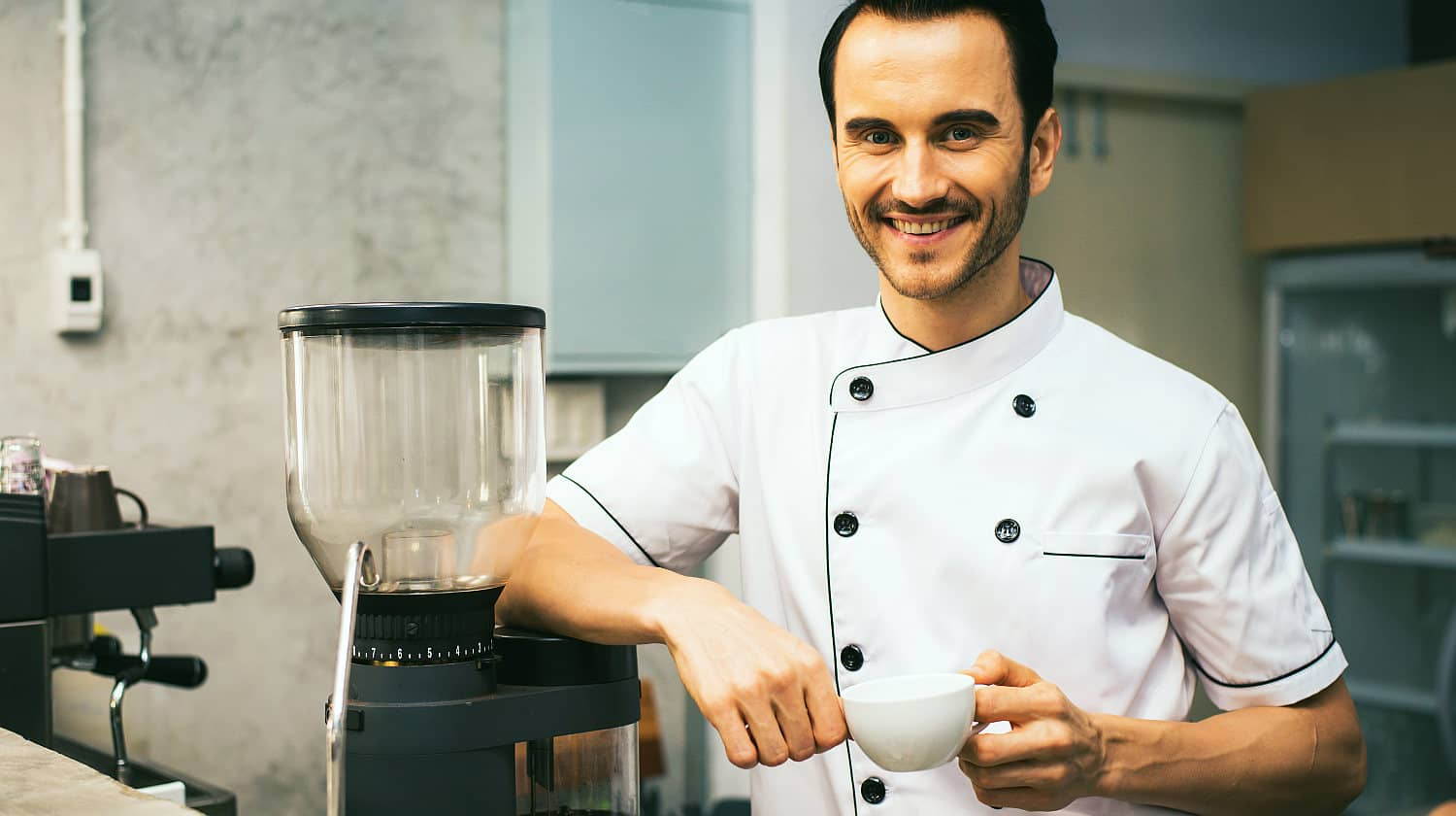 Feature | Chef holding white tea cup | Hey Alexa, Get These 21 Kitchen Appliances On Amazon