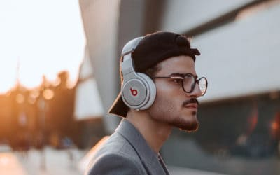 Feature | Bearded man wearing headphone | Top Reviewed Wireless Headphones on Amazon