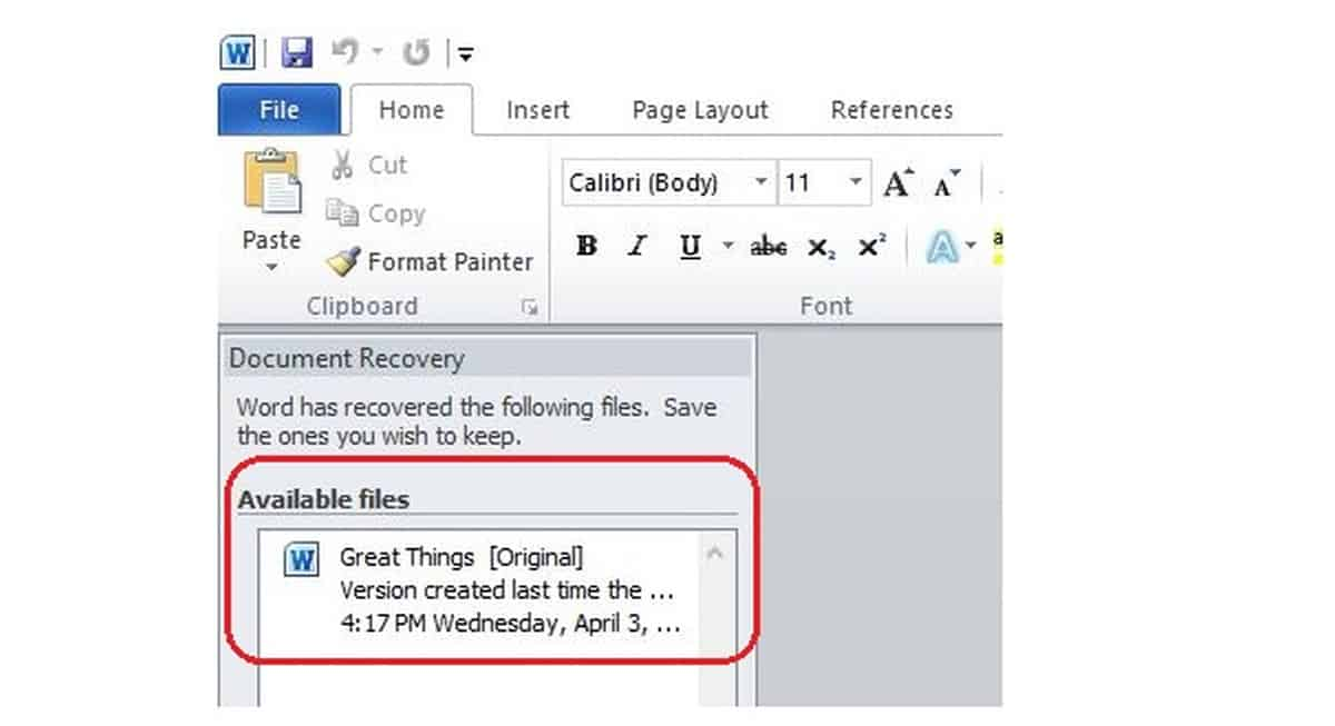 Document Recovery | How To Recover Unsaved Word Documents On Your Computer