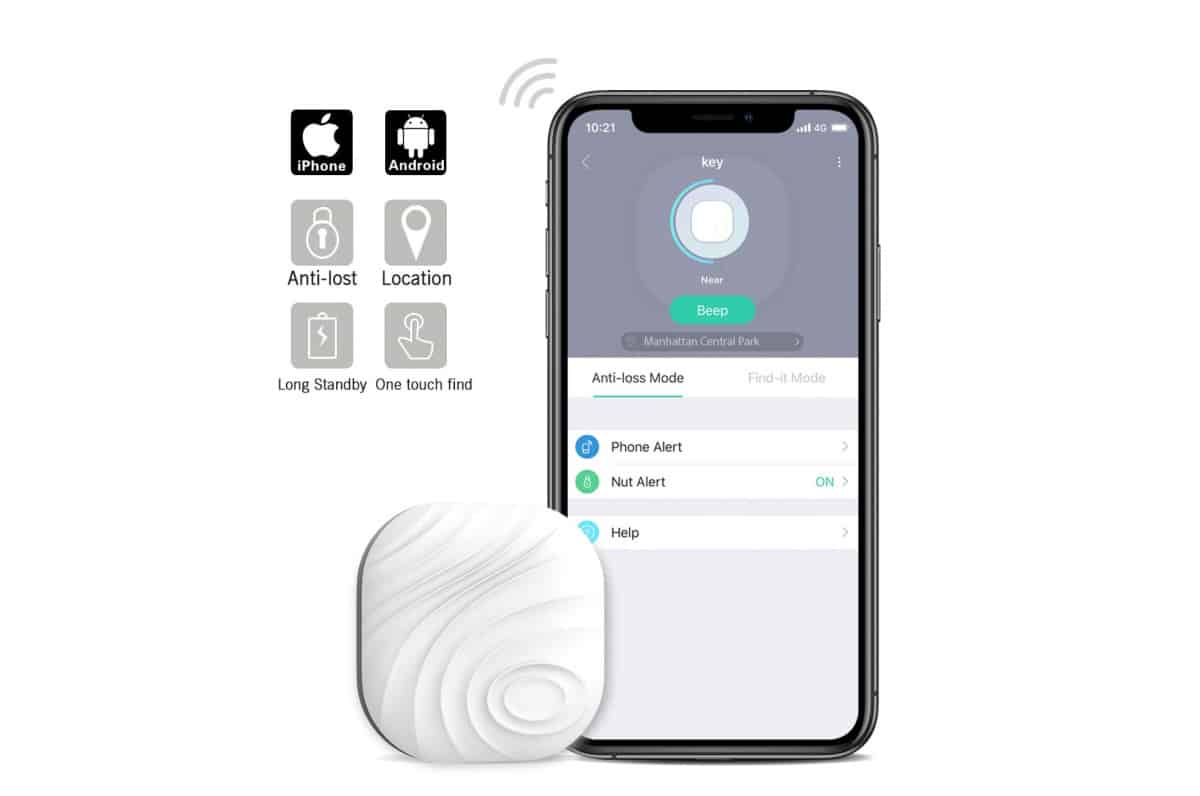Nut3 Smart Key Finder Bluetooth Wi-Fi Tracker | Best Amazon Products You Never Knew You Needed