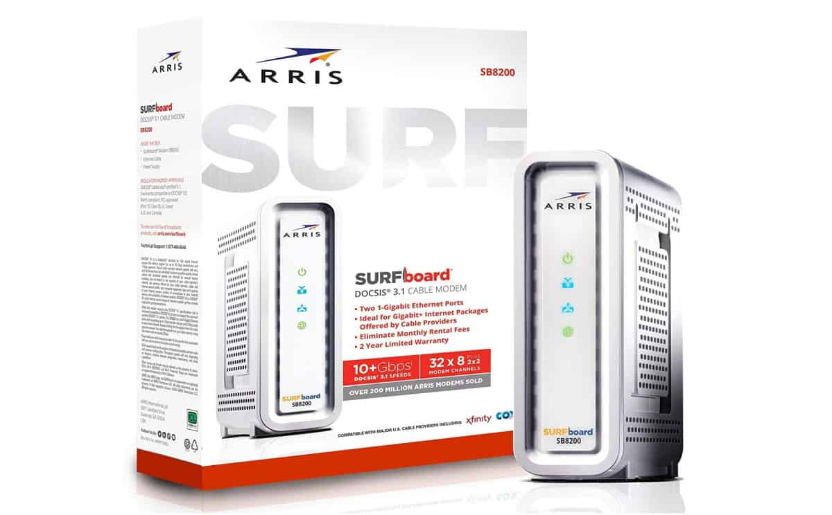 ARRIS Surfboard SB8200 Gigabit DOCSIS 3.1 Cable Modem | Xfinity Compatible Modems You Can Buy On Amazon
