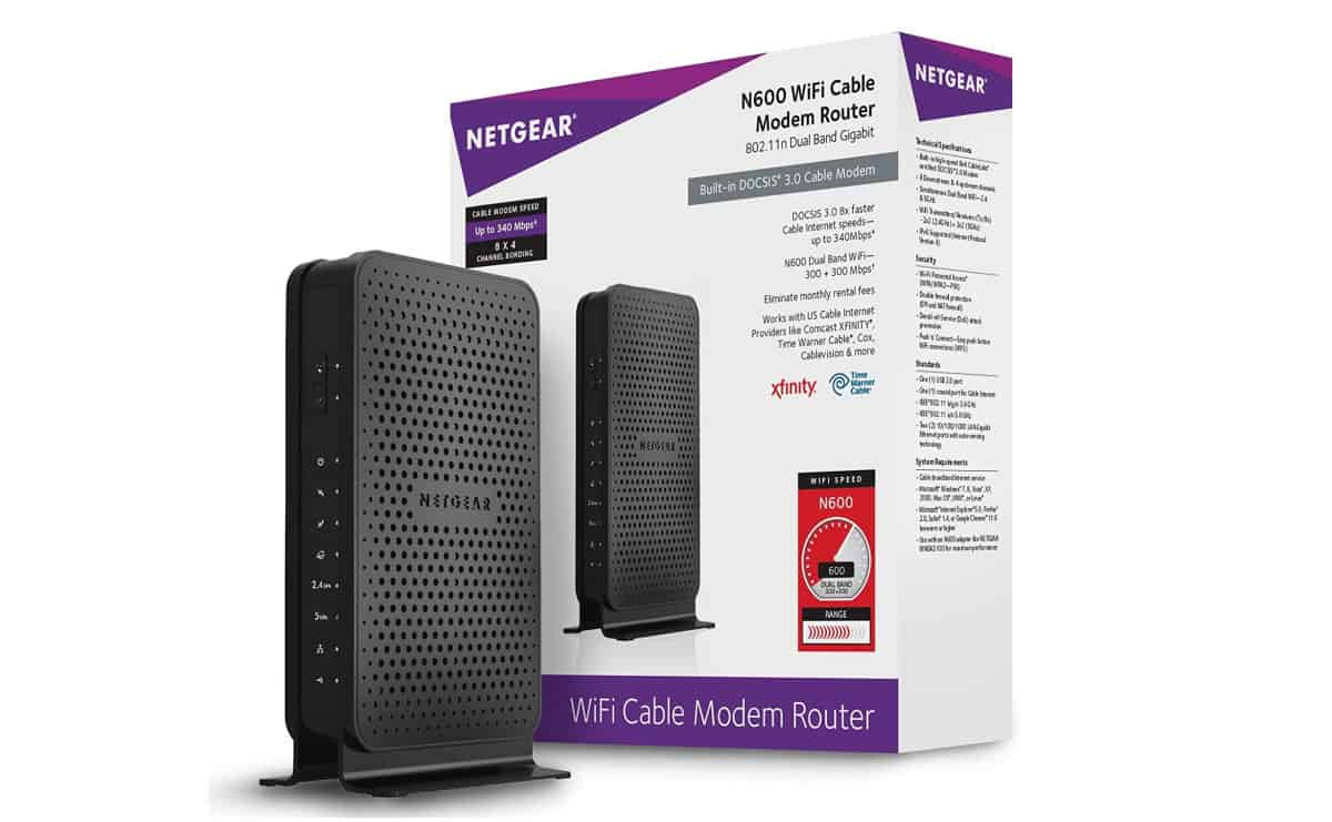 NETGEAR C3700-100NAS Dual-Band Wi-Fi Cable Modem Router (8x4) | Xfinity Compatible Modems You Can Buy On Amazon