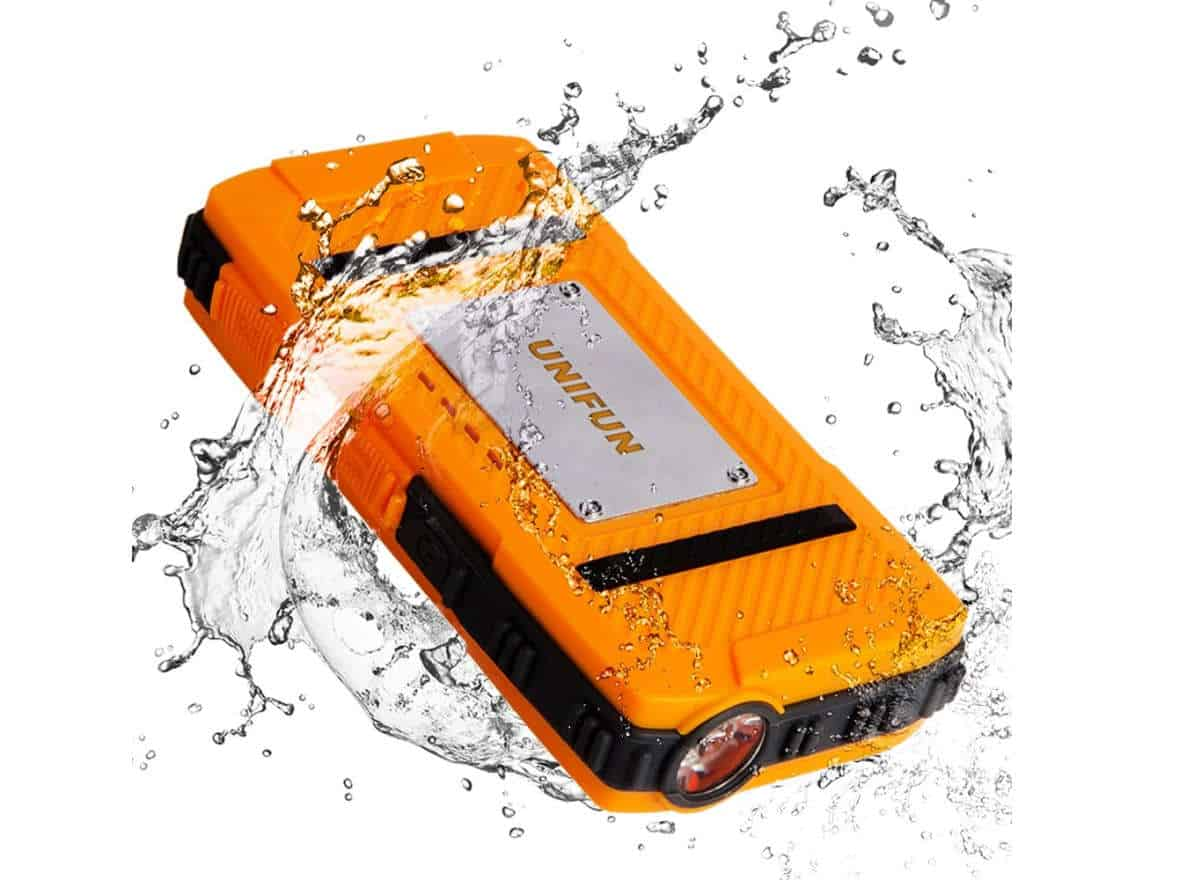 Unifun 10400mAh Waterproof External Battery Power Bank Charger | Waterproof Gadgets To Lounge By The Pool With