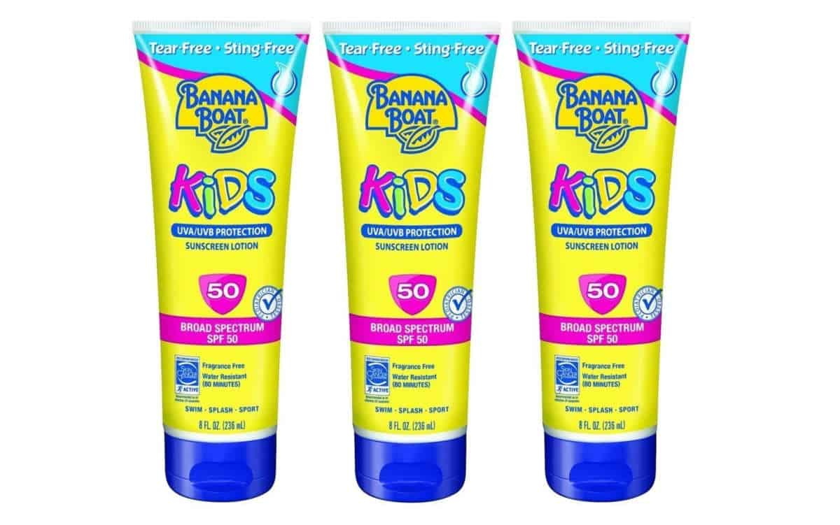 Banana Boat Kids Tear Sunscreen Lotion SPF 50 | Best Kid's Camping Gear on Amazon (A Great Invest For Summer!)