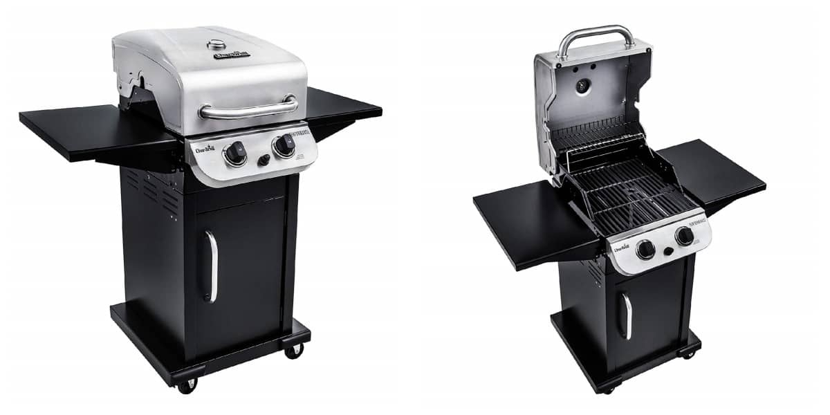 Char-Broil Performance 300 2-Burner Cabinet Liquid Propane Gas Grill- Stainless | Best Outdoor Grills on Amazon Under $200 | Outdoor Grill