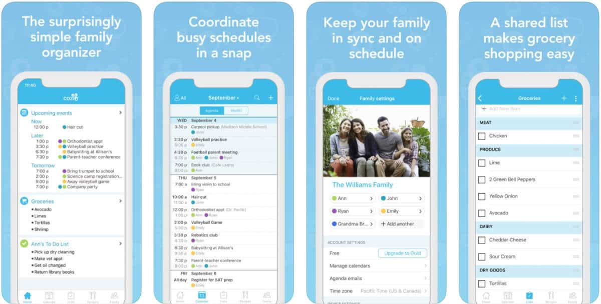 Cozi Family Organizer | Family Meal Planning Made Easy With These Apps