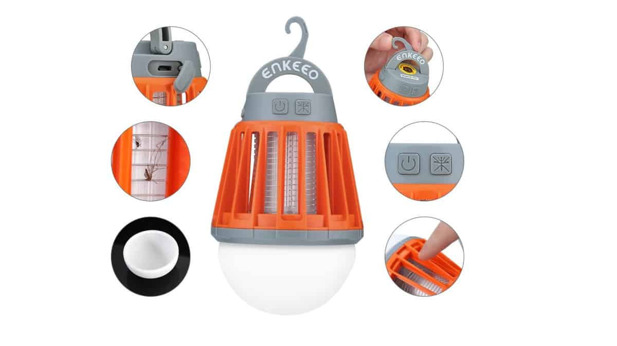 ENKEEO 2-in-1 Camping Lantern Bug Zapper Tent Light | Bug Zapper: How Does It Work And Which One Should You Get?