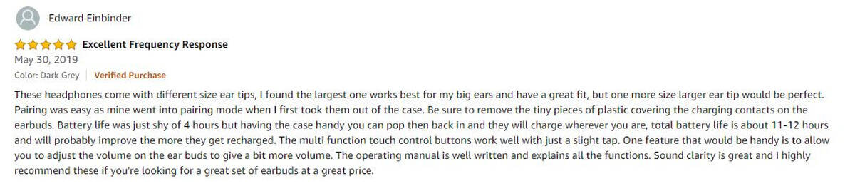 Edward Einbinder Review   Mr Noobie Reviews One of the Best Bluetooth Earbuds You Can Buy On Amazon For Cheap