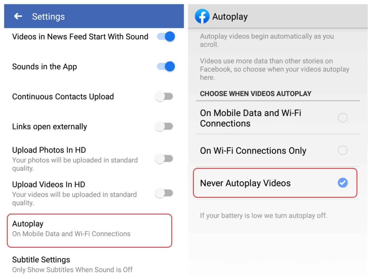 Facebook Video Autoplay | How Not To Go Over Your Data Cap