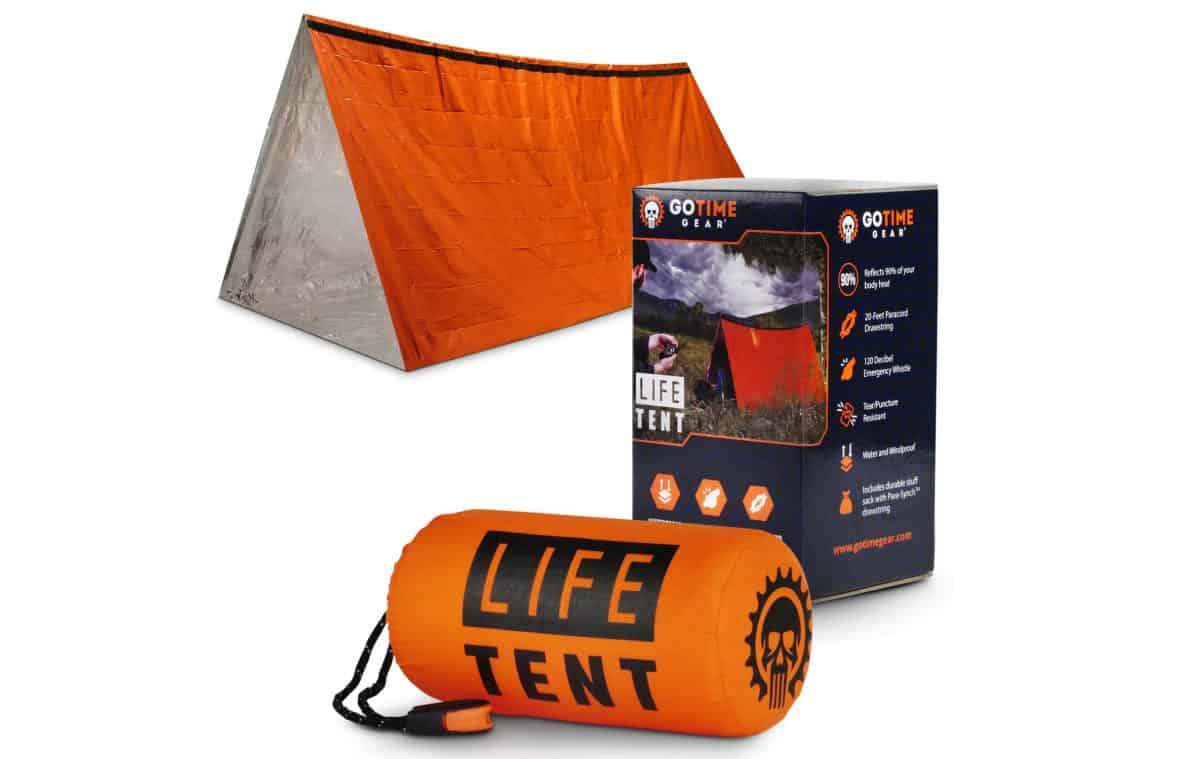 Go Time Gear Life Tent Emergency Survival Shelter | Outdoor Survival Gear And Gadgets on Amazon Under $100