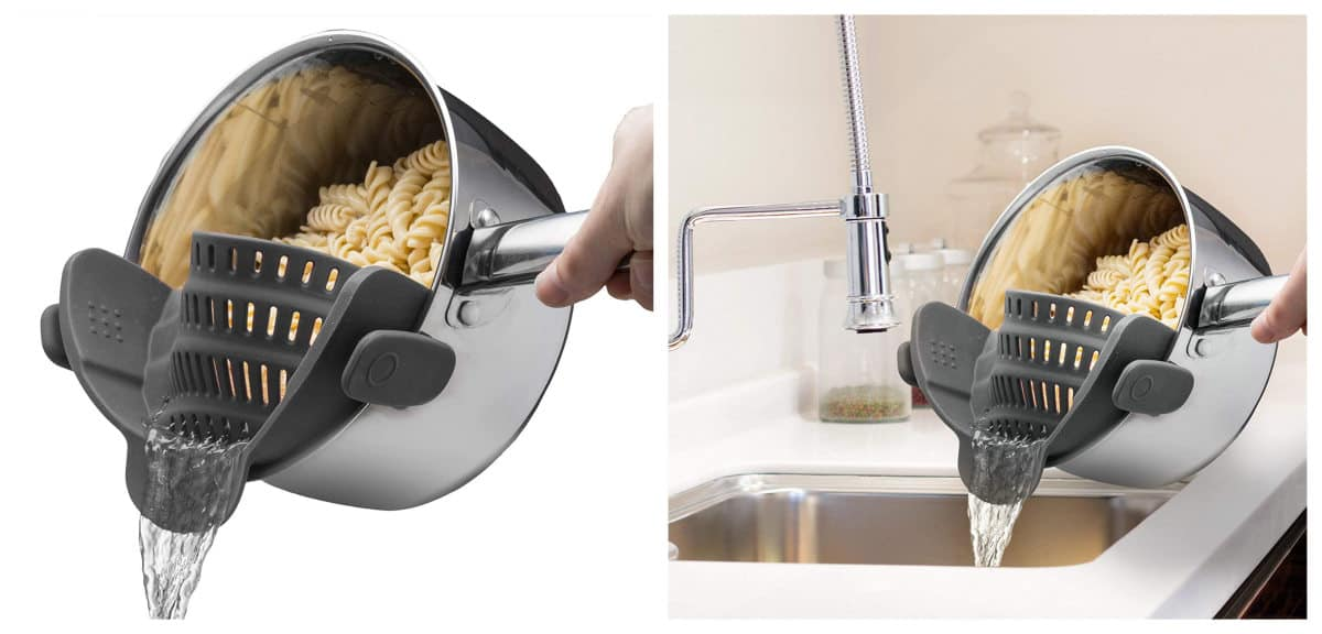 Kitchen Gizmo Snap N Strain Strainer | Smart Kitchen Decor And Gadgets That Will Make Cooking More Fun