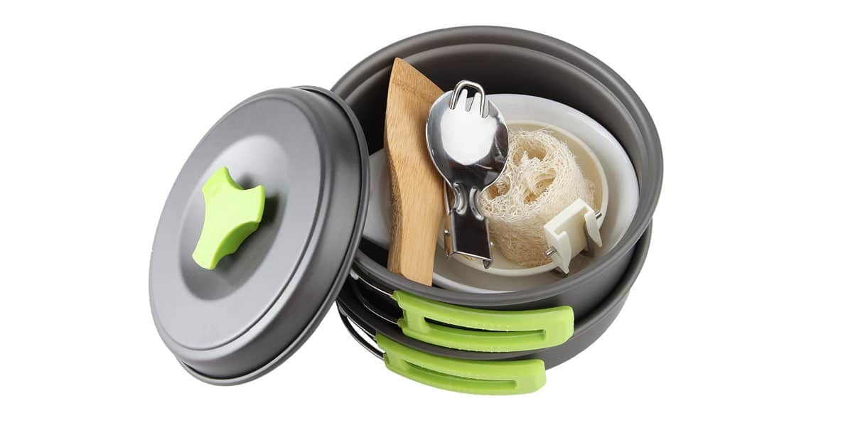 MalloMe Camping Cookware Mess Kit Backpacking Gear | Cool Camping Must-Haves To Survive A Weekend Outdoors
