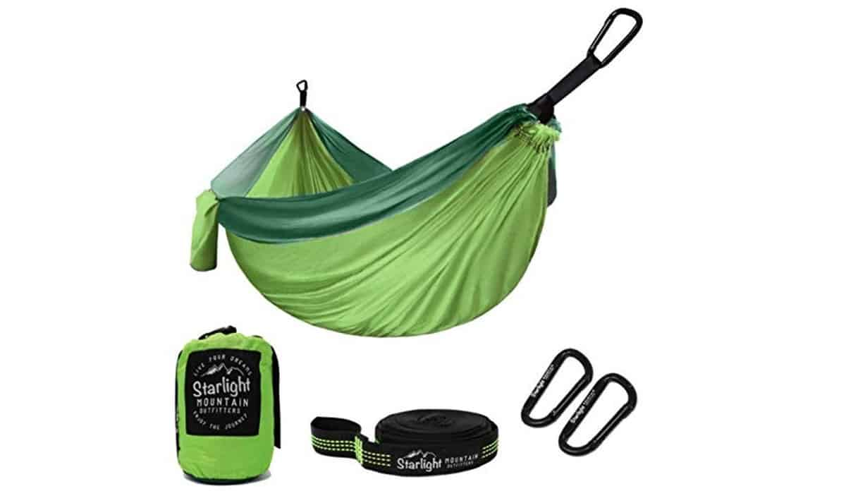 Starlight Mountain Outfitters Single Double Hammock | Outdoor Survival Gear And Gadgets on Amazon Under $100