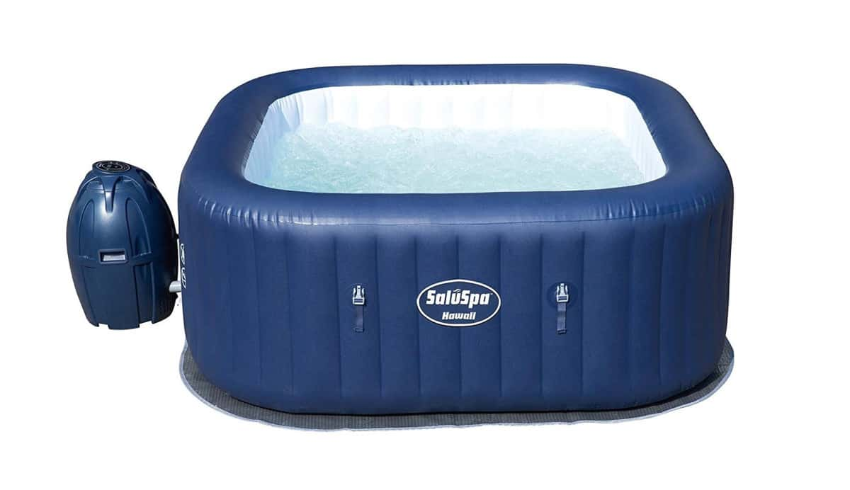 Bestway 54155E Hawaii Air Jet Inflatable Outdoor Spa | Best Amazon Outdoor Hot Tub | small outdoor hot tub