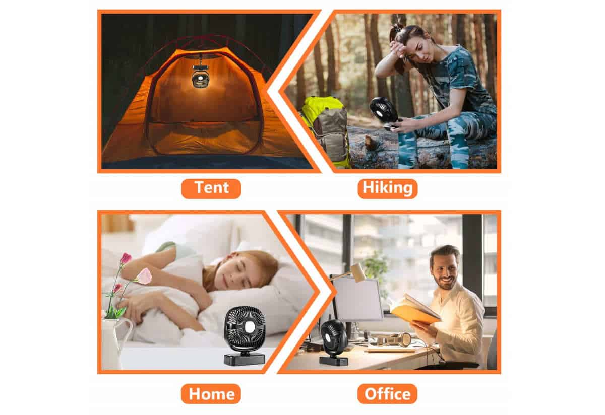 COMLIFE Portable LED Camping Lantern with Tent Ceiling Fan | Best Camping Lanterns For Your Next Outdoor Adventure | Camping Lantern | propane camping lantern