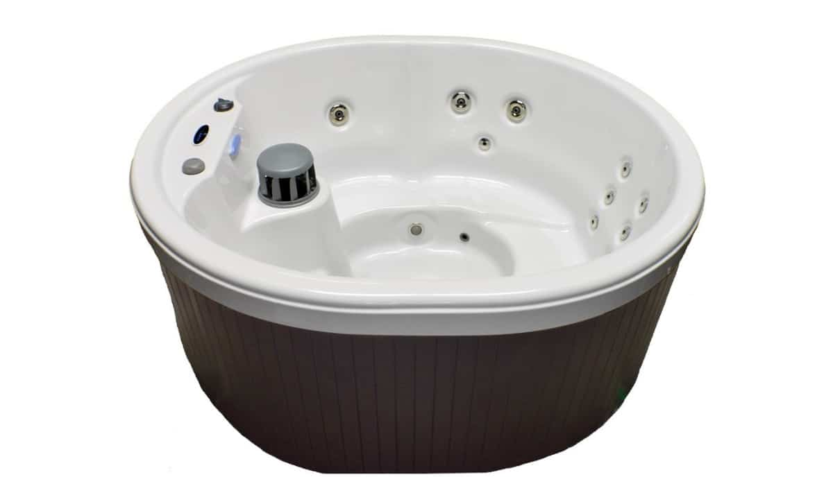 Hudson Bay Spas 5 Person 21 Jet Spa with Stainless Jets | Best Amazon Outdoor Hot Tub |corner outdoor hot tub