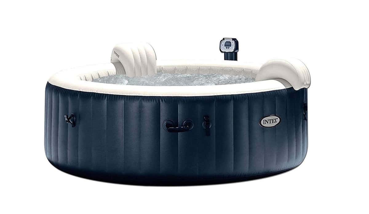 Intex Pure Spa 6-Person Inflatable Portable Heated Bubble Hot Tub | Best Amazon Outdoor Hot Tub | corner outdoor hot tub
